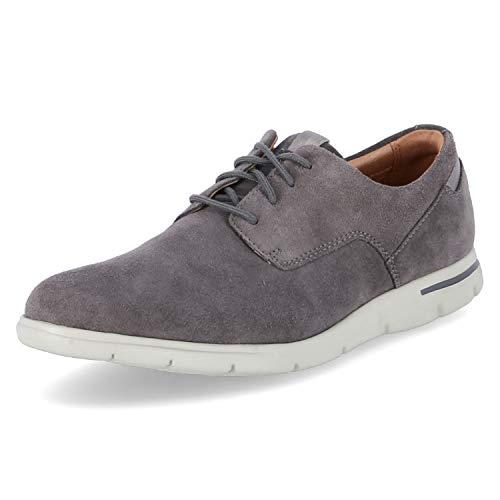 Clarks Vennor Walk, Zapatos de Cordones Derby Hombre, Gris (Grey Suede), 44 EU