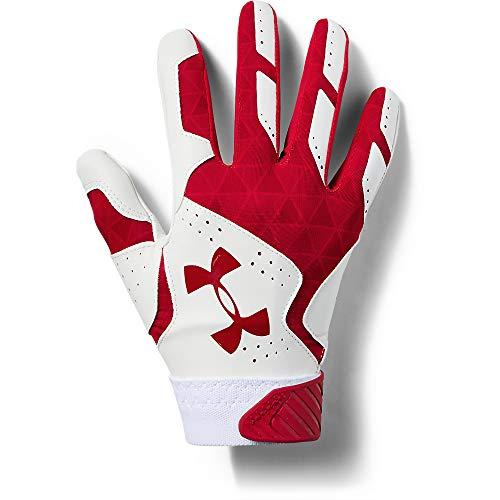 Under Armour Women's Radar Softball Batting Gloves, Red (601)/Red, Medium