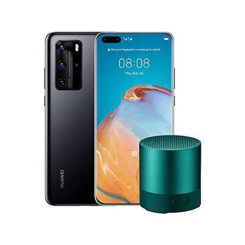 "HUAWEI P40 Pro con Bluetooth Speaker, Acoustic Display da 6.58"", Quattro Fotocamere Leica da 50 + 40 + 12 MP e Sensore TOF, Kirin 990 5G Octa Core, Nero, Versione Italiana"