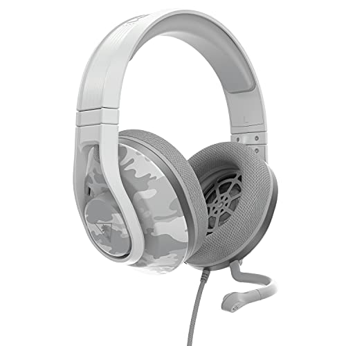 Turtle Beach Recon 500 Camo Polarweiß Kabelgebundenes, plattformübergreifendes Headset - PS5, PS4, PC, Xbox Series X|S, Xbox One und Nintendo Switch