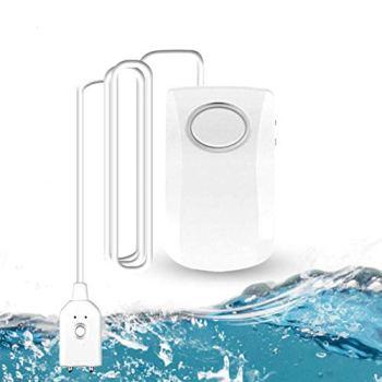 GuDoQi Détecteur de Fuite d'eau Wi-FI, Détecteur Inondation Intelligent 130dB, Détecteur d'eau Capteur d'alarme d'eau sans Fil, Notifications Push sur Les Smartphones TUYA/Smart Life APP