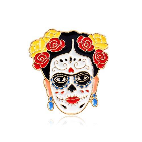 Ogquaton Broche de calidad superior Frida Kahlo para mujeres niñas mochilas chaquetas