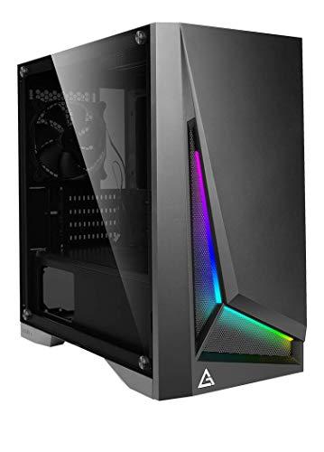 Antec ARGB搭載、強化ガラス仕様のMicro ATX対応コンパクトPCAntecケース DP301M BLACK