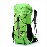YCRCTC 55L Mochila de Senderismo Mochila Bolsa de montañismo Viaje Impermeable Camping Trekking Daypack Mochila Deportiva al Aire Libre para Hombres Mujeres (Color : Green)