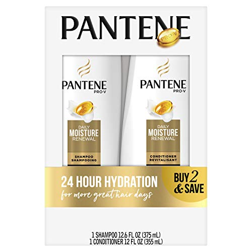 Pantene Pro-V Daily Moisture Renewal Shampoo and Conditioner Bundle (Packaging May Vary) 1