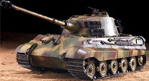 """RC Panzer \""""Deutscher Königstiger - Henschelturm\"""" 1:16 Heng Long mit Rauch und Sound , Stahlgetriebe + 2,4Ghz -V6.0"""