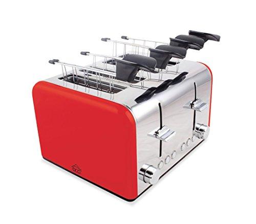 Tostapane elettrico TA8660 DCG in acciaio 4 pinze 1400W funzione scongelamento. MEDIA WAVE store...