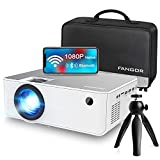 1080P HD Projector, WiFi Projector Bluetooth Projector, FANGOR 230' Portable Movie Projector with Tripod, Home Theater Video Projector Compatible with TV Stick, HDMI, VGA, USB, Laptop, iOS & Android
