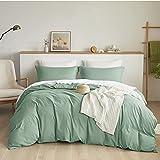 Bedsure Duvet Cover Full Size Sage Green - Full Duvet Cover Comforter Cover Bedding Set with Zipper Closure 3 Pieces (1 Duvet Cover + 2 Pillow Shams, 80x90 Inch)