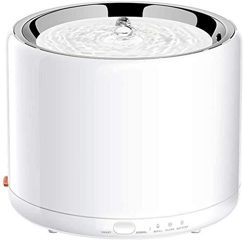 PETKIT 3.0 Dispensador Automático de Acero Inoxidable para Gatos, dispensador de Fuente Inteligente para Gatos, luz LED incorporada, Bomba silenciosa, solución de batería de Respaldo (Blanco 3.0)