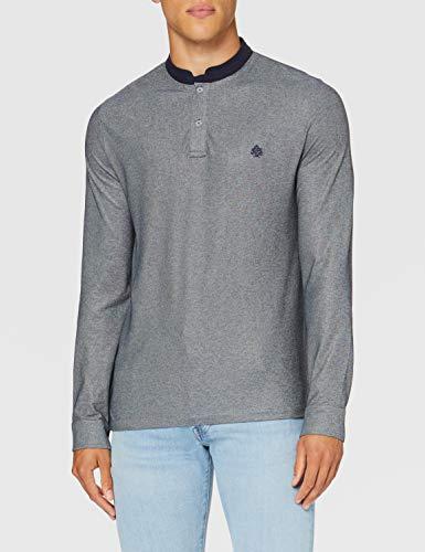 Springfield 3Ds Polo Mao Ml Puño Mel-C/44 Camiseta, Gris (Dark_Grey 44), L (Tamaño del Fabricante: L) para Hombre