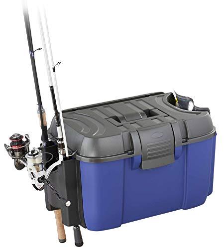 Plastica Panaro Valigetta Pesca Rod 169, con Porta canne e Tasca Laterale per pastura, Blu, Dimensioni Esterne 525 x 340 x H300 mm