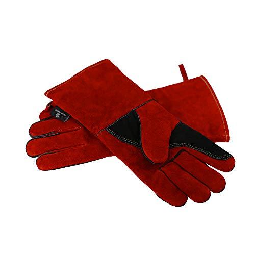 耐熱牛革 本革手袋 耐熱グローブ 電気溶接革手袋 防寒 アウトドア