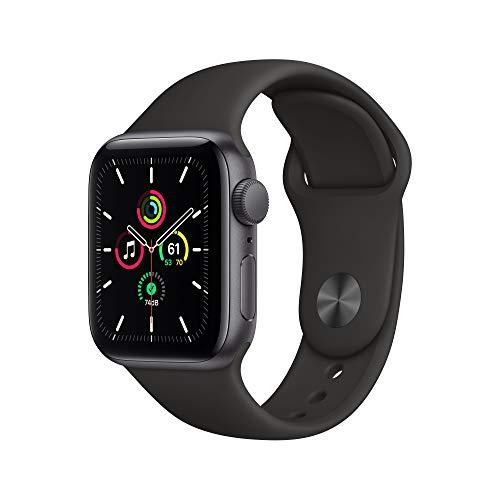 Nuevo Apple Watch SE (GPS, 40 mm) Caja de Aluminio en Gris Espacial - Correa Deportiva Negra