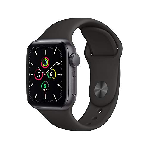 Apple Watch SE (GPS, 40mm) Space Gray Aluminum Case with Black Sport Band