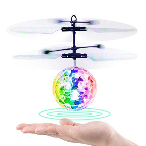 Blasland Palla Volante, Giocattoli per Bambini Mini Drone Elicottero Telecomandato Aereo RC con Luci LED Gadget Compleanno Regali Ragazzi Ragazze 8 9 10 11 12 Anni Giochi da Giardino Interno Esterno