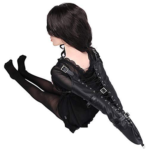AYMHMSK Fesseln Bondage Sets, Leder Körper Bondage Kleidung Fetisch Kostüme Fesseln Keuschheit ZwangsjackeKostüm Spielzeug für Frauen