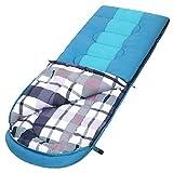 SONGMICS Large Sac de Couchage avec Sac de Compression, Température de Confort:5-15°C, 3-4...