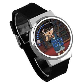 Montres Homme,Montre À Écran Tactile Créative LED Detective Conan Anime Entourant Une Montre Électronique Lumineuse Étanche E
