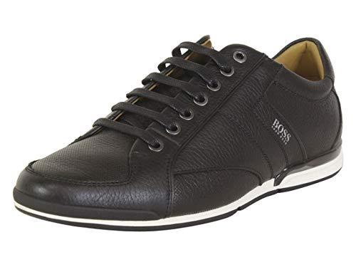 Hugo Boss Men's Saturn Black Memory Foam Perforated Sneakers Shoes Sz: 8