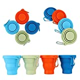 GUANCI Silicone Collapsible Cups 4Pack,...
