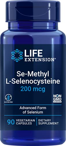 Life Extension | Se-Methyl L-Selenocysteine | 200 mcg | 90 vegane Kapseln