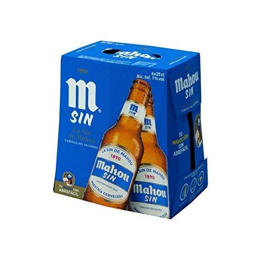 Mahou Cerveza sin Alcohol Dorada Lager, 6 x 25cl