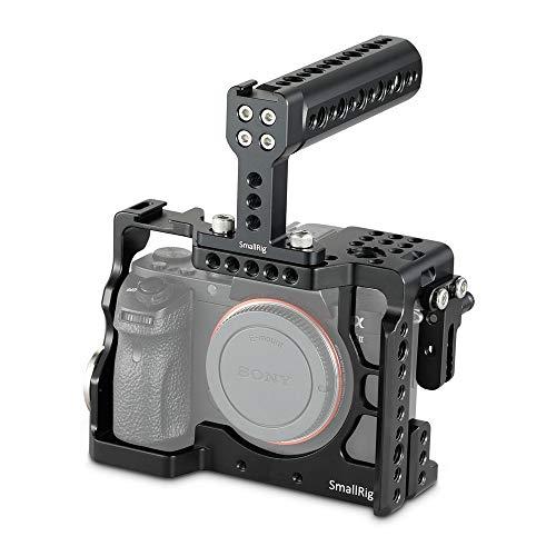SMALLRIG a7II/a7RII/a7SII専用ケージ Arriロゼット付き トップハンドル付き ナットレール装備 拡張カメラケージ 軽量 取付便利 耐久性 DSLR 装備-2014