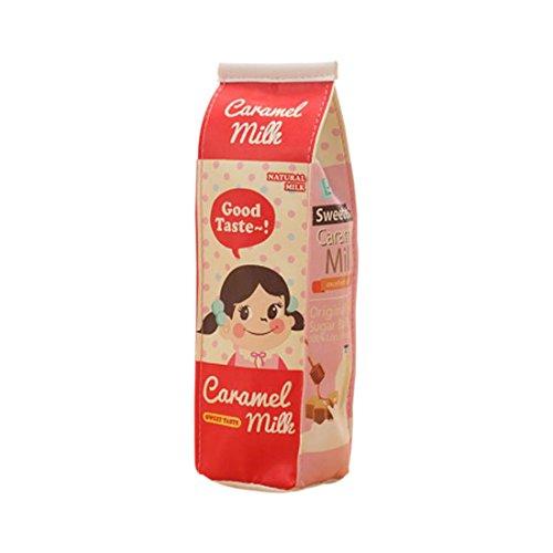 Astuccio SODIAL(R) Astuccio simile a cartoni di latte in poliuretano. Kawaii, portapenne, cancelleria, ufficio, materiali scolastici. 20 x 5 x 6 cm (rosso). red