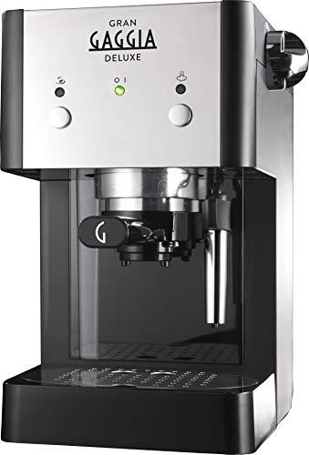 Gaggia GranGaggia Deluxe Black Macchina Manuale per il Caffè Espresso, per Macinato e Cialde,...