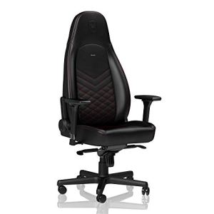 noblechairs ICON Gaming Chair - Office Chair - Desk Chair - PU Leather - Black/Red