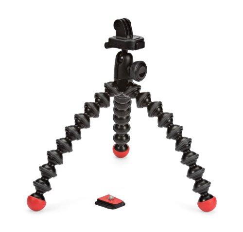 JOBY Treppiede GorillaPod Action, Mini Treppiede Flessibile con Attacco per GoPro, 360° e Altre Action Camera, Portata Max 500 g, JB01300-BWW