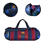 Officially Licensed Duffel - Our soccer duffel bag contains the logo for the FC Barcelona soccer club, along with the official team colors Folds Down for Display – After taking all of the items out of the bag, it will fold down to the size, look and ...