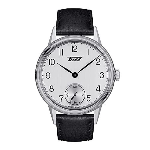 ティソ 腕時計 ティソ ヘリテージ 2018 シルバー文字盤 レザーストラップ T1194051603700 メンズ 正規輸入品 ブラック