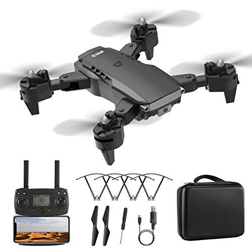 MOZUN Drone K2 Dotato di Telecamera 4K Ad Alta Definizione, Drone con Telecomando di Posizionamento del Flusso Ottico Pieghevole (3 Batterie), modalit Senza Testa, Ritorno con Un Solo Tasto