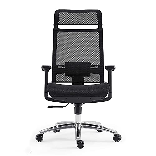 Product Image 8: BILKOH Ergonomic Office Chair, High Back Desk Chair with Mesh Seat - Adjustable Lumbar Support Breathable Mesh Chair Wide Headrest& Reclining Task Chair Adjustable 3D Armrest & Height <a href=