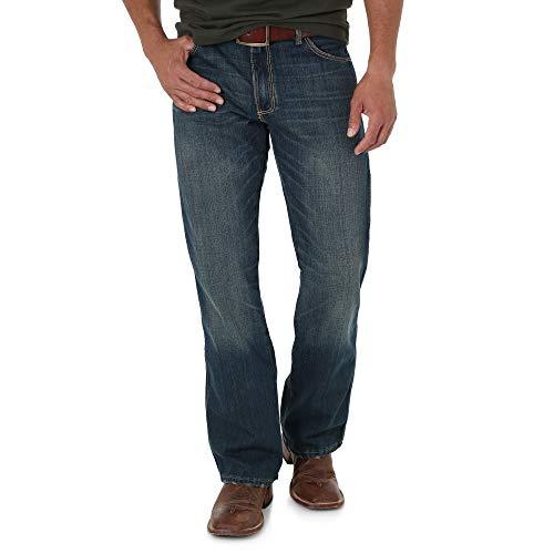 Wrangler Men's Retro Slim Fit Boot Cut Jean, Banjo Blue, 33x30