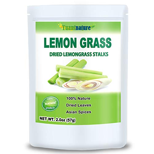 Dried Lemongrass Spice, Natural Lemon Grass Stalks, Cut & Sifted, Bulk Spice, Perfect for Tea & Seasoning (2.0 oz)