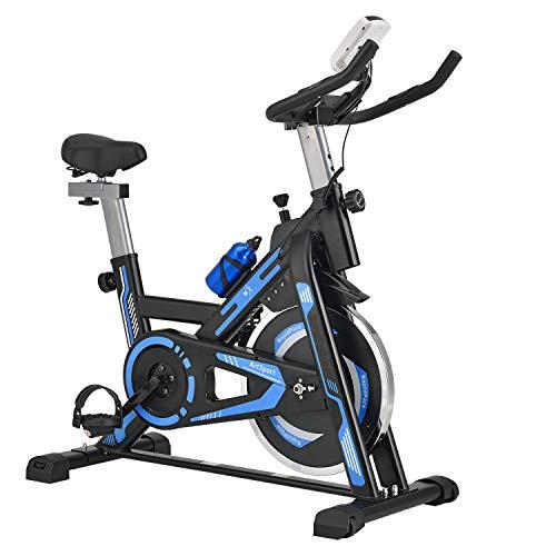 ArtSport Heimtrainer Fahrrad RapidPace mit 10 kg Schwungrad – Ergometer inkl. Riemenantrieb & stufenloser...