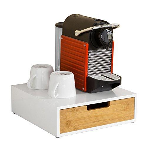 Contenitore per capsule di caffè SoBuy FRG179-WN in MDF e bambù - Dispensatore di capsule -...