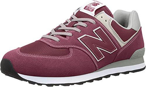 New Balance Herren 574v2 Core Sneaker, Rot (Burgundy), 43 EU