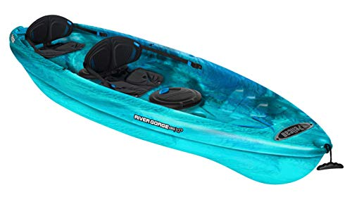 Pelican Tandem Recreational Kayak | River Gorge 130X Tandem, 13 Feet