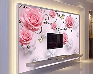Buy Avikalp Exclusive Awz0381 3d Wallpaper Mural Beautiful 3d Rose Floral Bedroom Background Hd 3d Wall Sticker 182cm X 121cm Online At Low Prices In India Amazon In