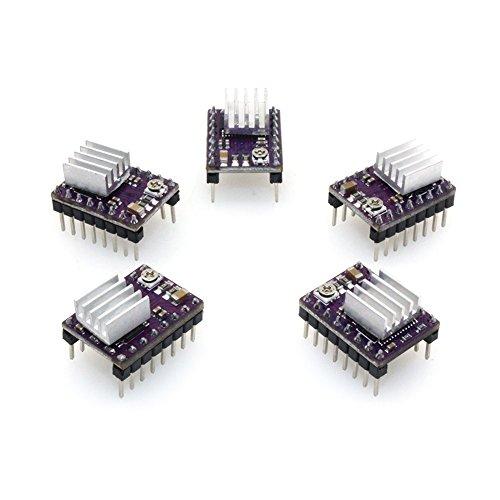 Si tratta di una versione aggiornata del A4988, PCB a 4 strati per una migliore dissipazione del calore e per ridurre la resistenza dei chip.  Passi semplici e interfaccia di controllo direzionale.  Il driver per motore passo-passo (saldato con pin d...