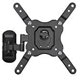 DYNAVISTA Full Motion TV Wall Mount Bracket with Tilting Swivel Articulating Arm up to VESA 200 x 200 mm and 44 lbs for 12 to 40 inch TV Flat Screens and Monitors (Black)
