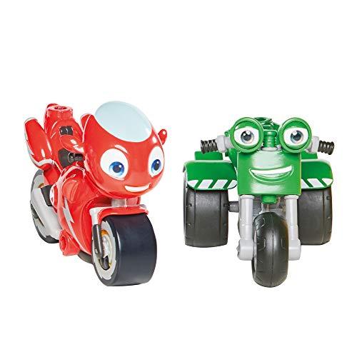 Ricky Zoom T20044 Ricky Zoom & DJ, 2 pezzi, 3 pollici Action Figure Wheeling, Free Standing bambini moto giocattoli per bambini 3 anni ragazzi e ragazze +
