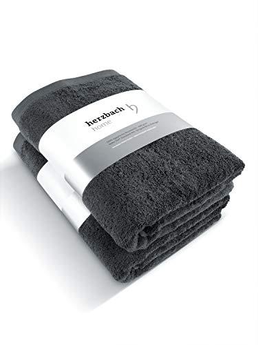 herzbach home Juego de 2 toallas de lujo de alta calidad, 10