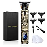 Hair Clippers for Men, Professional Hair Trimmer Zero Gapped T-Blade Trimmer Cordless Rechargeable Edgers Clippers Electric Beard Trimmer Shaver Hair Cutting Kit with LCD Display Gifts for Men