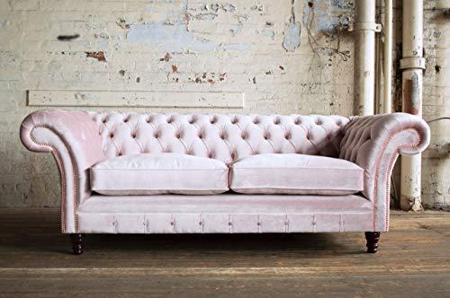 JVmoebel Chesterfield, divano imbottito classico a 3 posti, in pelle Winchester R1