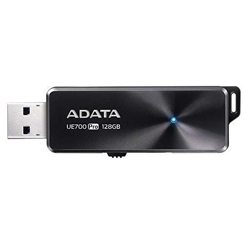 ADATA UE700 Pro USB-Stick 128 GB USB Typ-A 3.0 (3.1 Gen 1) Schwarz - USB-Sticks (128 GB, USB Typ-A, 3.0 (3.1 Gen 1), 360 MB/s, Dia, Schwarz)